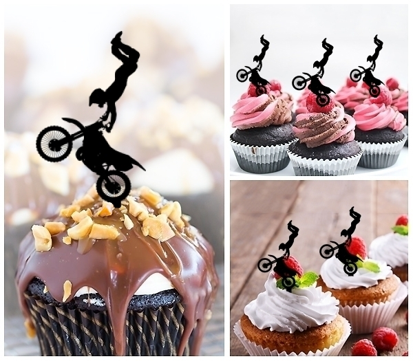 Laser Cut Extreme Sport Freestyle Motocross cupcake topper