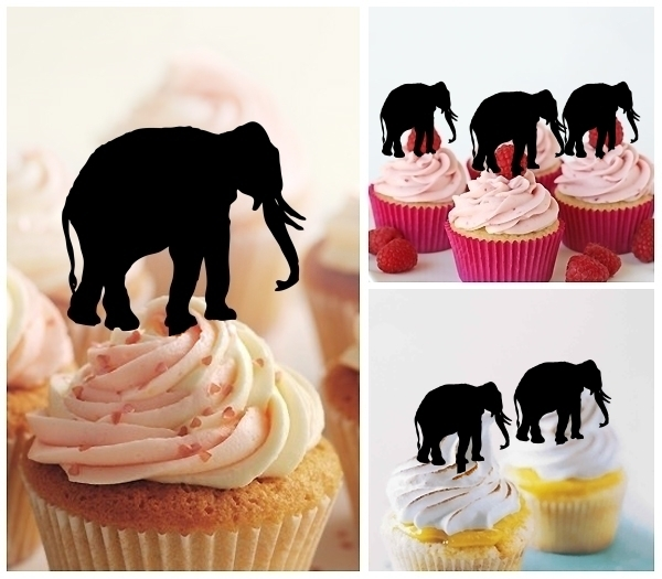 Acrylic Toppers Elephant Design