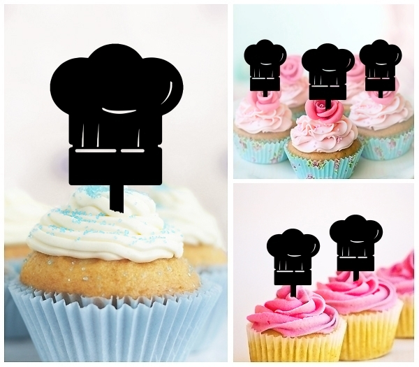 Acrylic Toppers Chef Hat Food Cooking Design