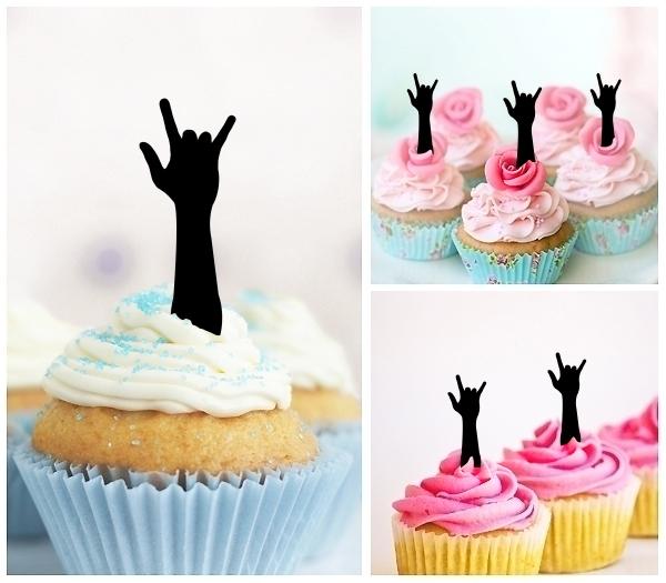 Hand Symbol I Love You Topper Cupcake