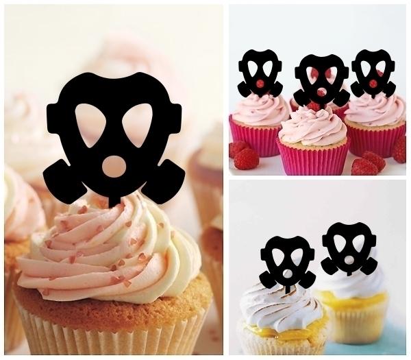 Firefighter Oxygen Mask Topper Cupcake หน ากากน กด บเพล ง