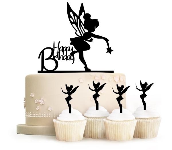 Happy Birthday Tinkerbell Peter Pan Topper Cake นางฟ้าทิง