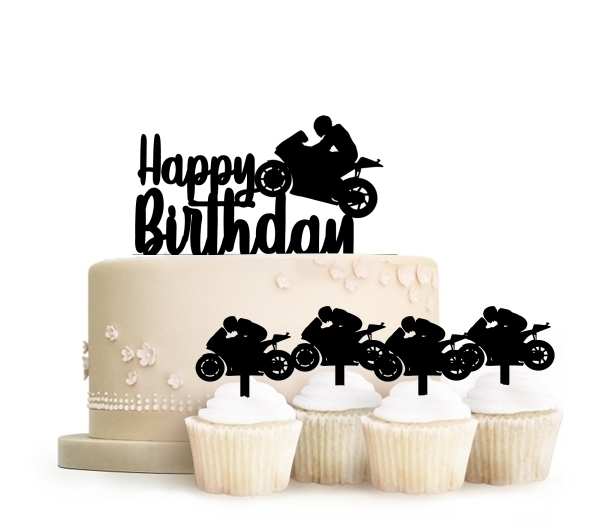 Topper Happy Birthday Motorcycle Racing